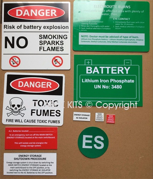 Battery Label Kits - Option 3