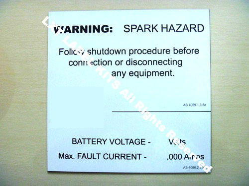 Warning - Spark Hazard Label