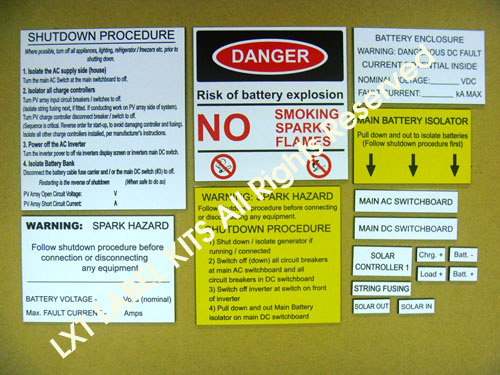 Off Grid Label Kits Option 2