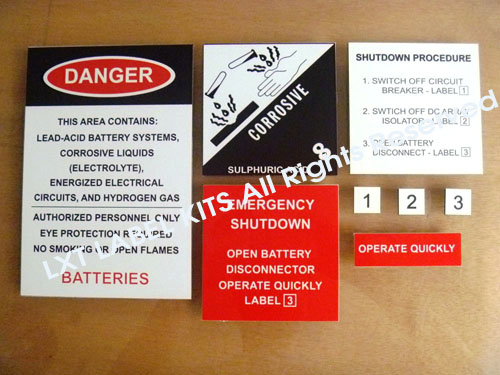 Off Grid Label Kits Option 1
